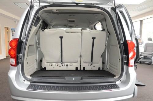 2012 Dodge Grand Caravan Trunk Open Seats Up View
