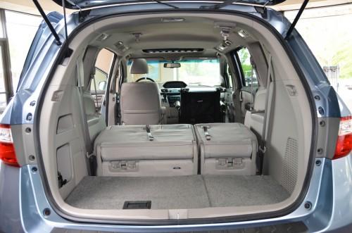 2012 Honda Odyssey  CB024644 Trunk Open Seats Down View