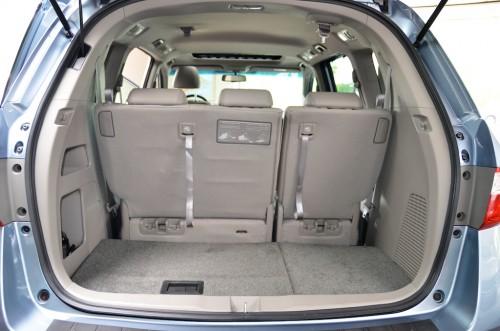 2012 Honda Odyssey  CB024644 Trunk Open Seats Up View