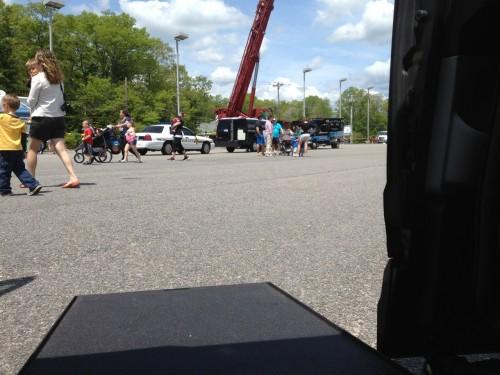 inside a wheelchair van sullivan tire's touch a truck event