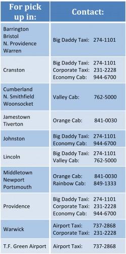 Taxi Contact Info RI