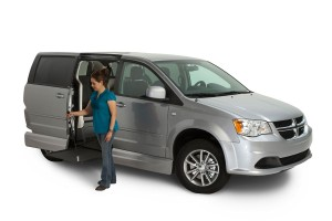 Dodge Grand Caravan With the VMI Northstar E Manual In floor Ramp