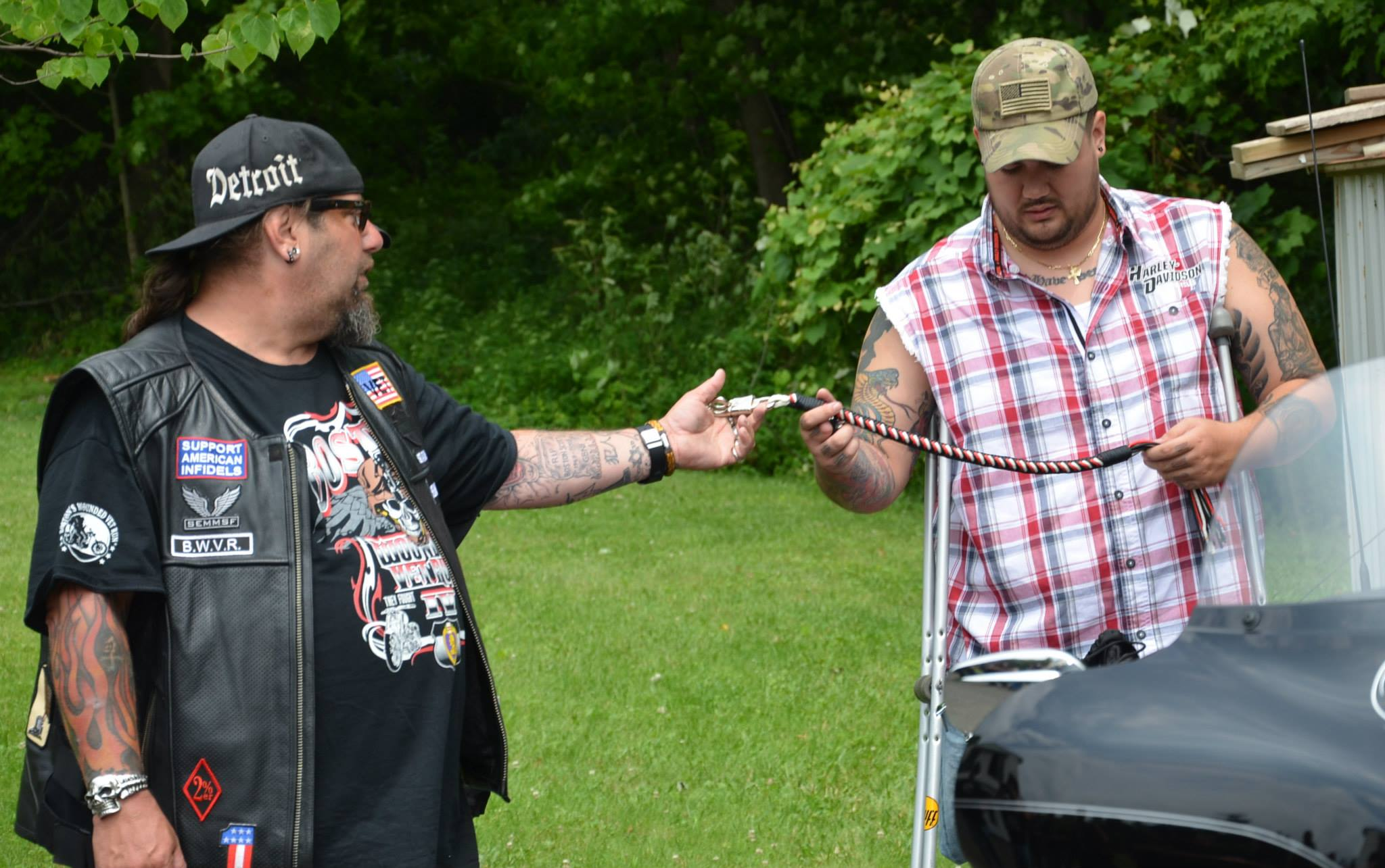 Boston Wounded Vet MC Ride presents Andy Kingsley his New 2014 Modified Trike16