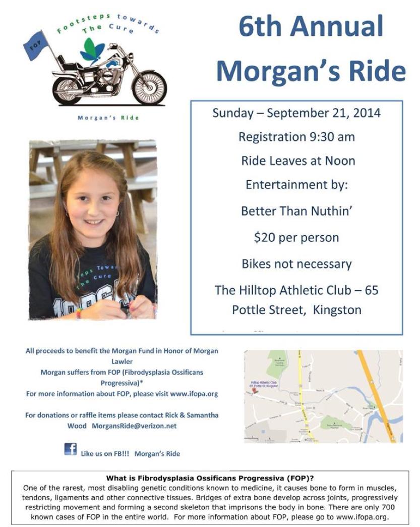 6th Annual Morgan's Ride