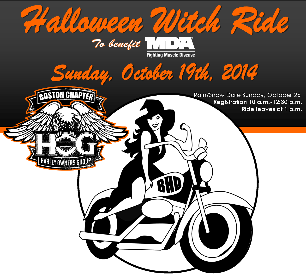 Halloween Witch Ride To Benefit MDA