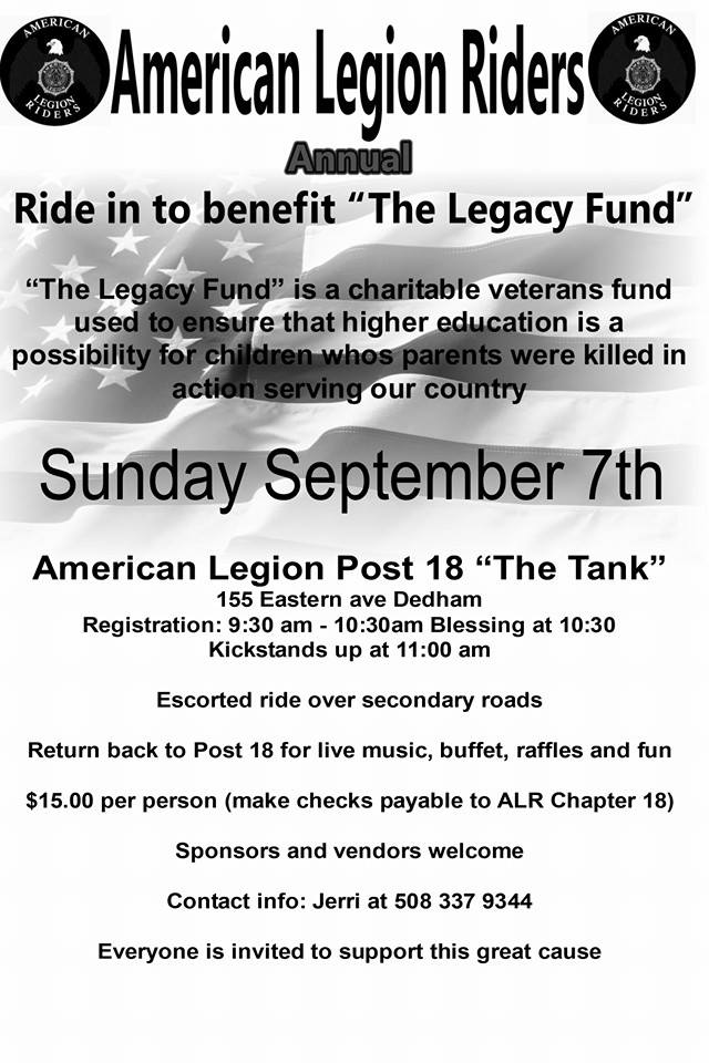 "AMERICAN LEGION RIDERS ""LEGACY RUN"", CHAPTER 18"