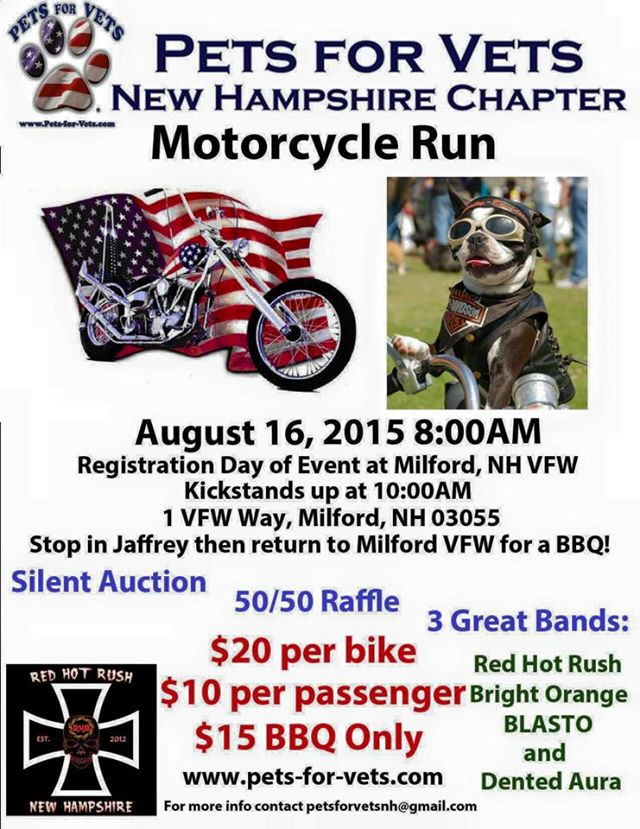 Pets For Vets New Hampshire Chapter Motorcycle Run
